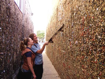 Bubble Gum Alley In Downtown San Luis Obispo California