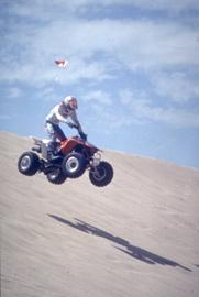 ATV Rider on the Dunes of Grover Beach California
