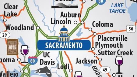 Map Of California Vacation Spots.Maps Visit Sacramento