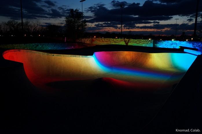 Reiz Menzer Memorial Skatepark. Photo courtesy of Knomad. Colab.