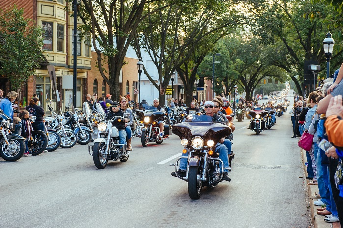 Legendary Harley-Davidson motorcycles take over Downtown York every fall.