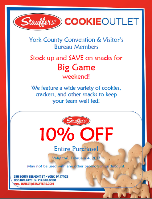 Pick up some tasty treats for the big game with this Stauffer's Cookie Outlet coupon!