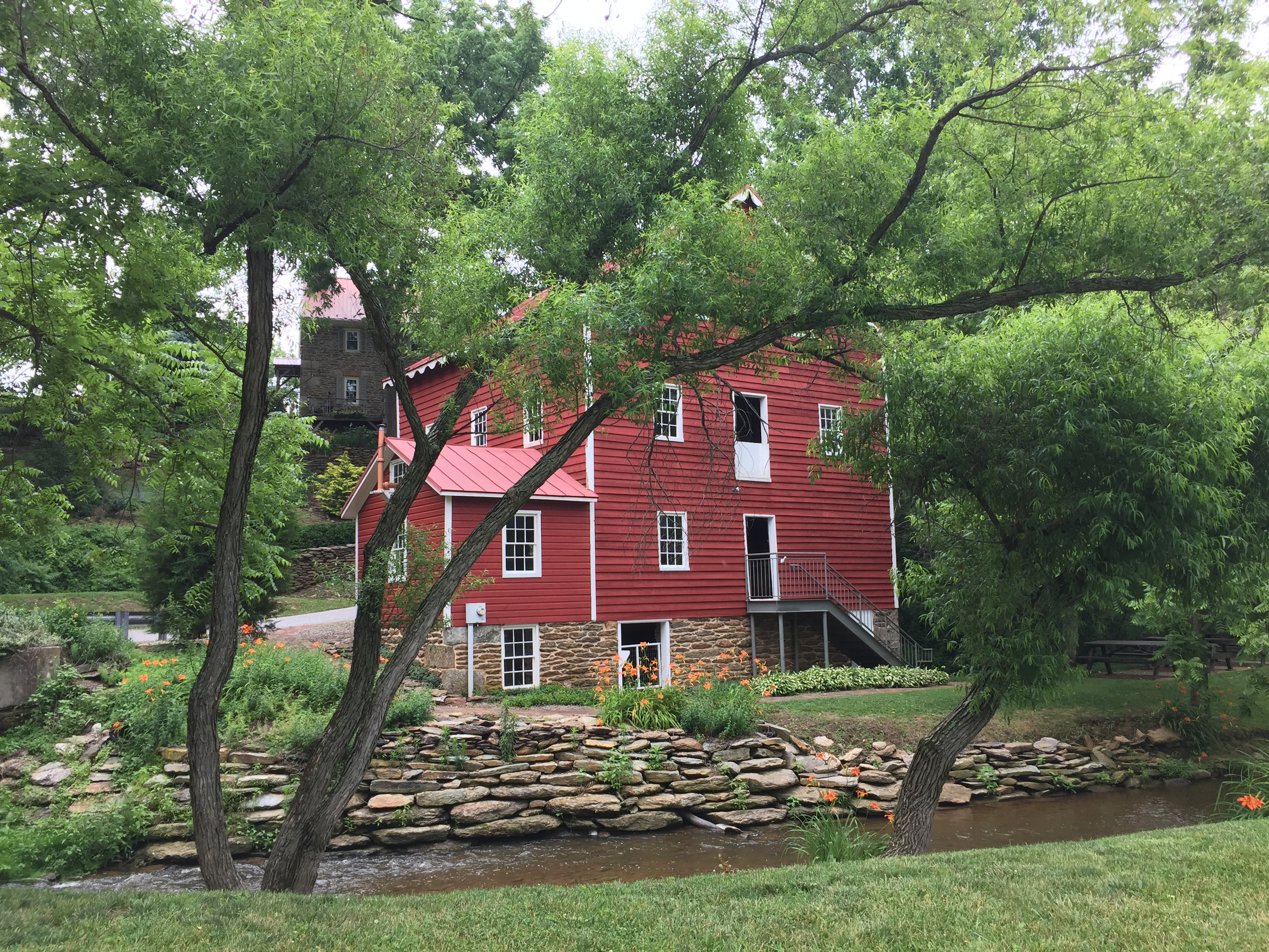 Sip on cider as you explore the historic Wallace-Cross Mill.