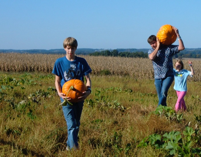 Be prepared to haul out some huge pumpkins at Maple Lawn Farm's 10-acre patch.