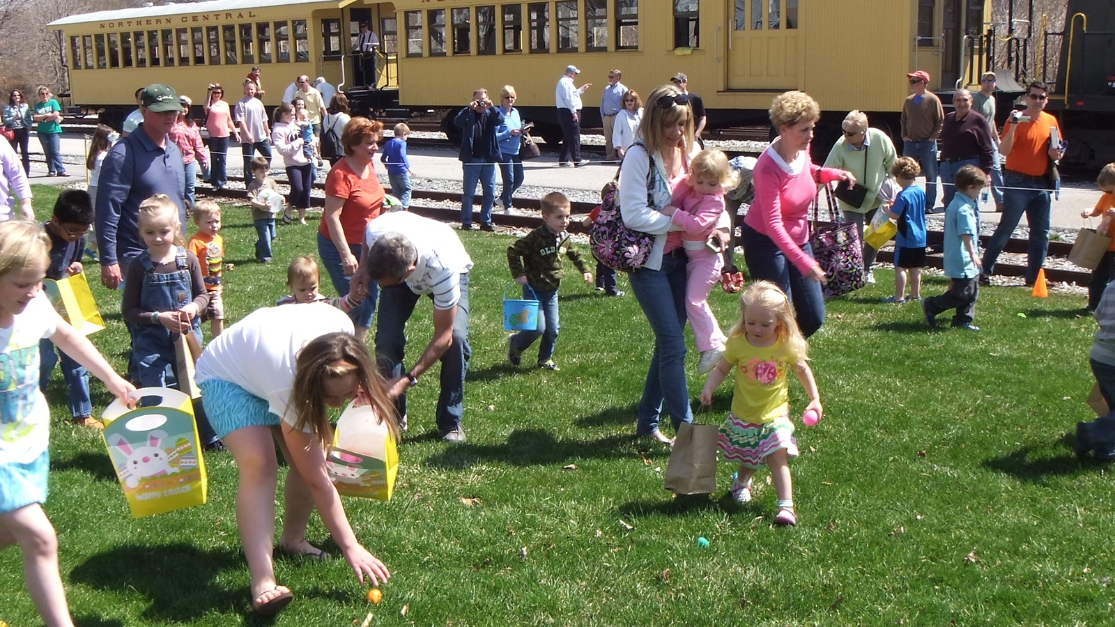 The Eggspecially Fun Bunny Run even includes an Easter egg hunt. Photo courtesy of Steam Into History.