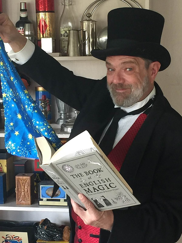 Magician Marc Charisse will join Steam Into History for an April Fool's Day train ride.