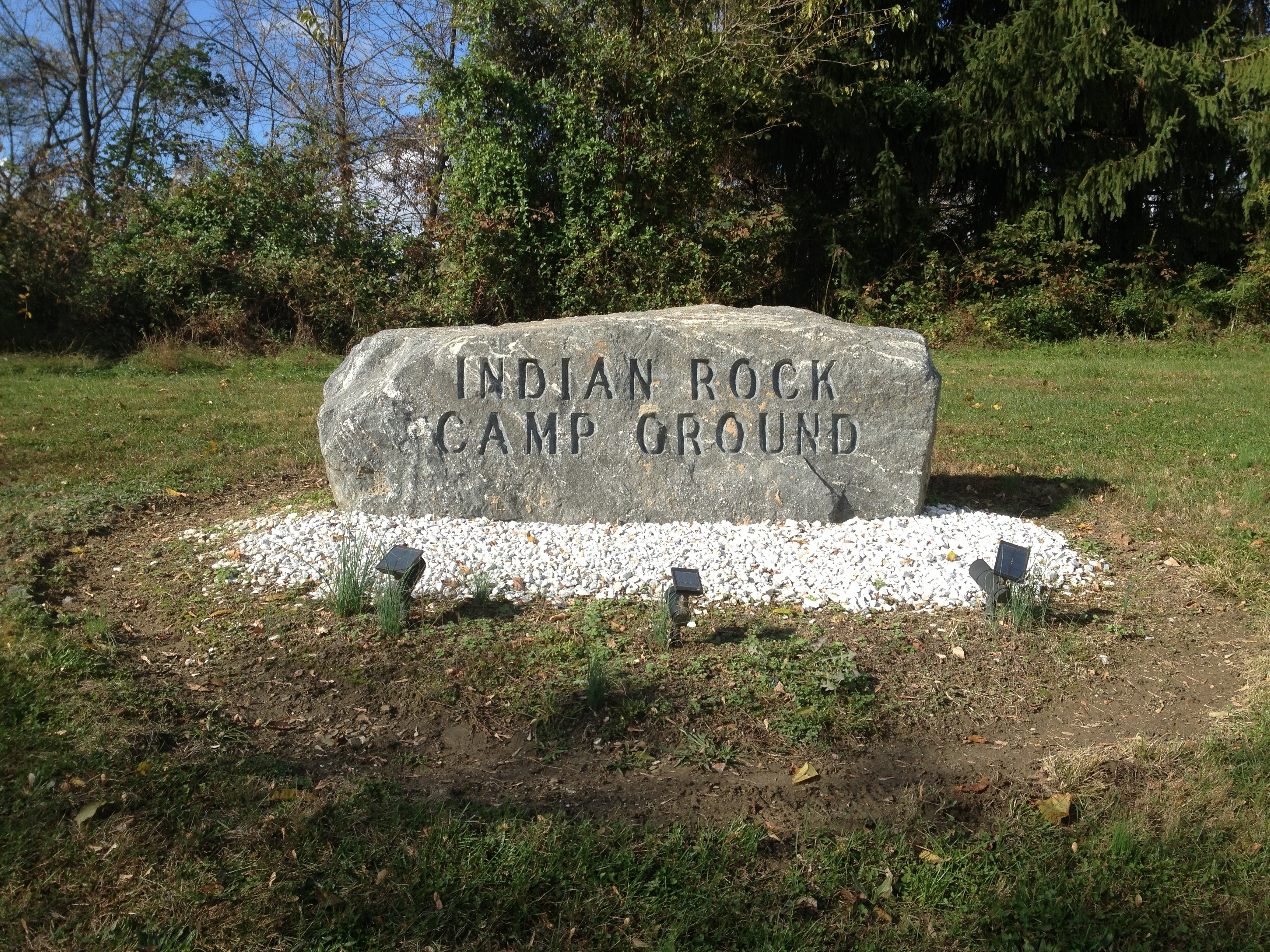Indian Rock Campground will welcome you and your pooch.