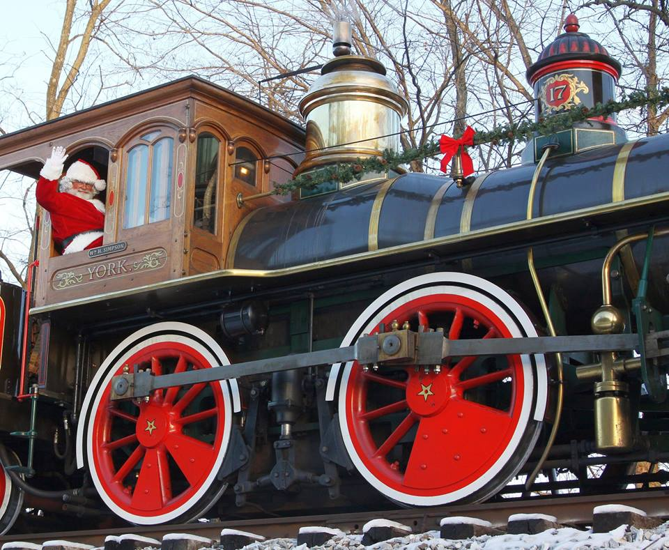 Join the Big Man in Red on a festive rides with Steam Into History.