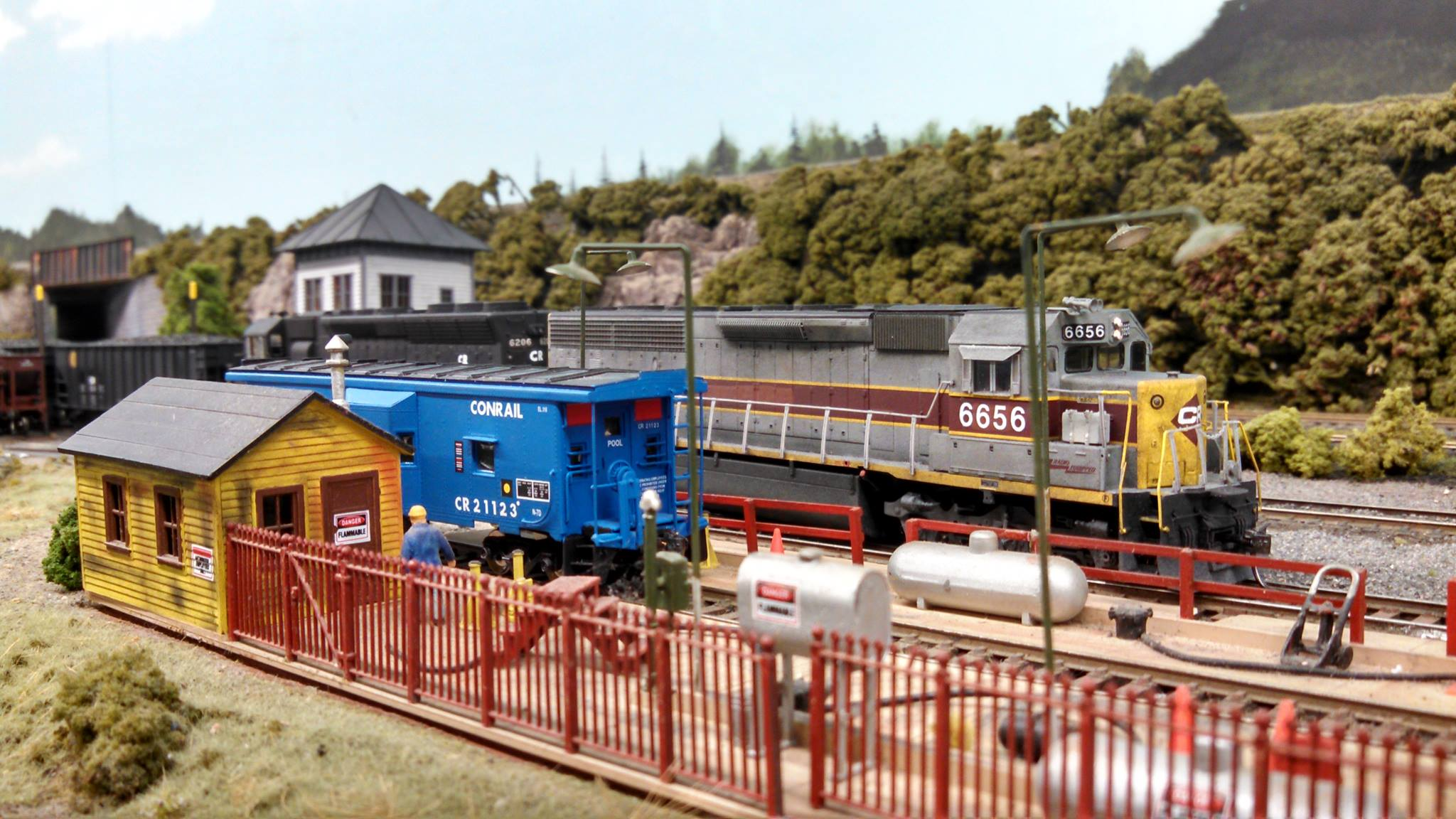 The holidays aren't complete without a toy train display.