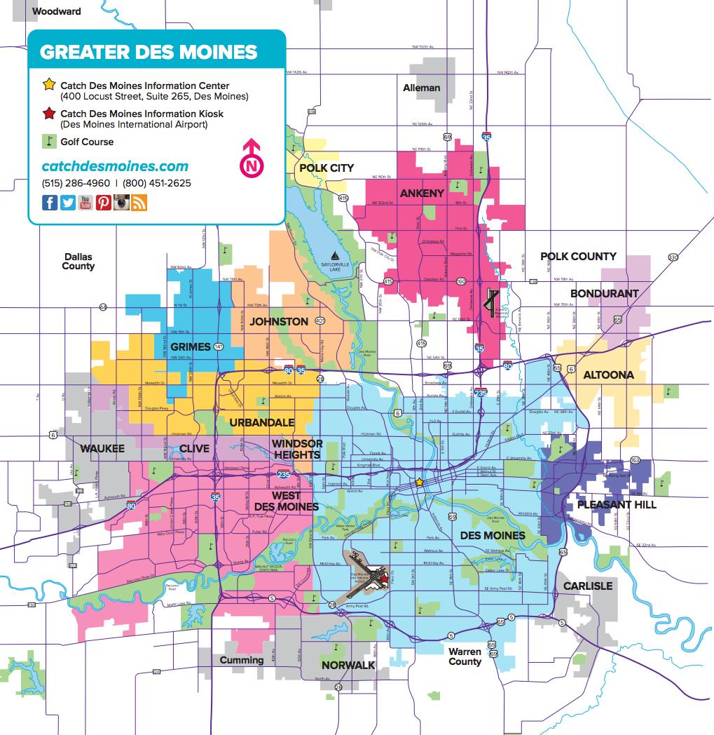 Des Moines Map Des Moines Maps | Downtown Map, Trails Map & More