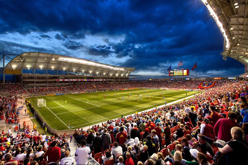 The Rio Tinto Stadium in Sandy
