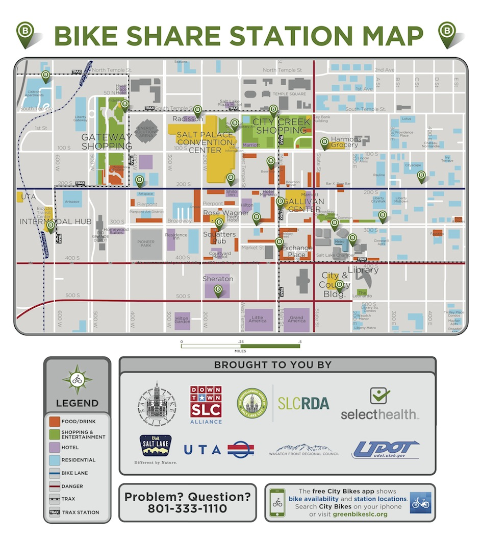 Greenbike Station Map 2014