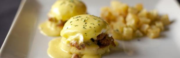 Oasis Cafe Eggs Benedict Brunch in Salt Lake