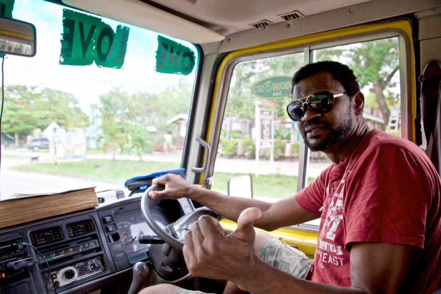 Lenbert Williams, host and driver of the One Love Bus Bar Crawl in Negril, Jamaica.