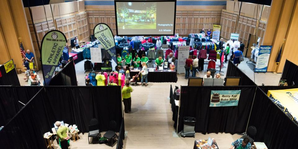 Wineglass Marathon Expo courtesy of Wineglass Marathon