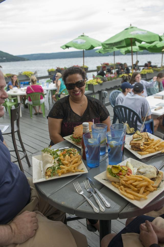 Lakeside dining at The Waterfront Restaurant courtesy of Stu Gallagher