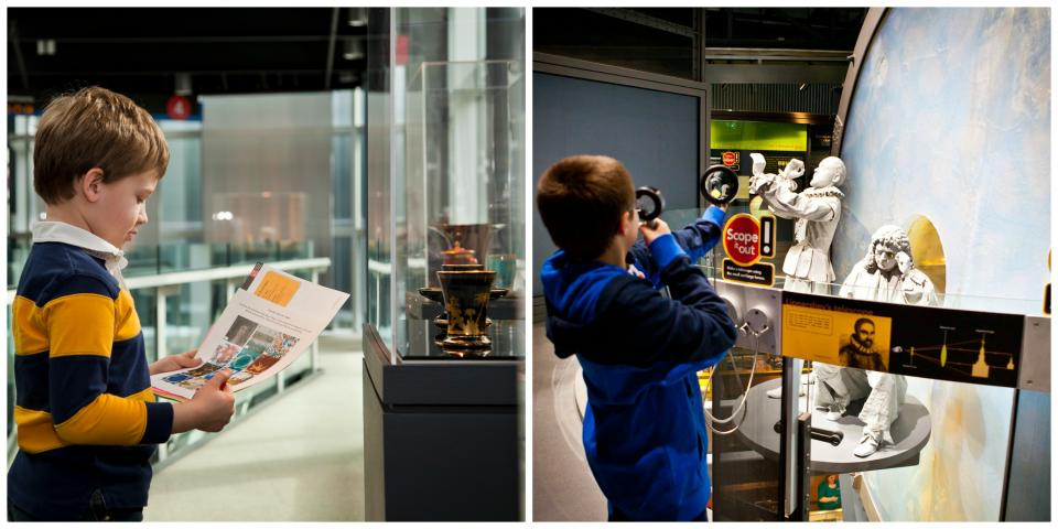 Kids at the Corning Museum of Glass courtesy of the Corning Museum of Glass