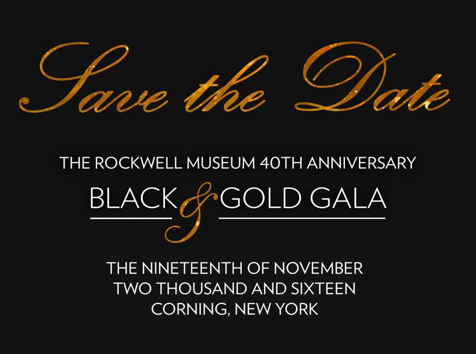 Black and Gold Gala courtesy of The Rockwell Museum