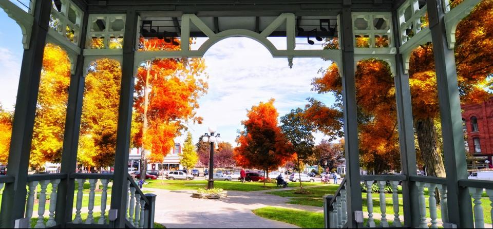 Hammondsport Village Square in Fall courtesy of Stu Gallagher
