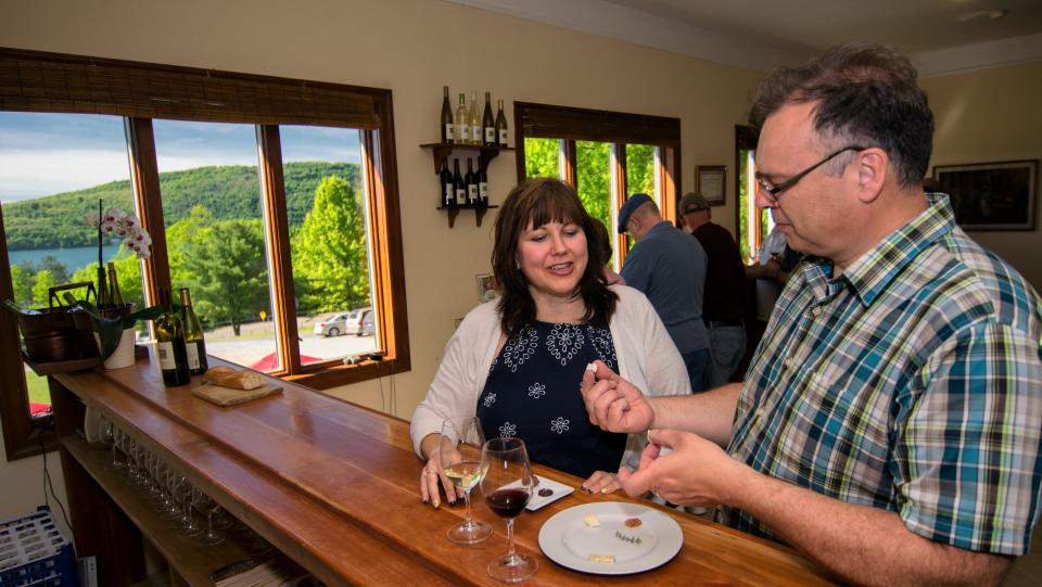 Ravines Wine Cellars tasting courtesy of Stu Gallagher