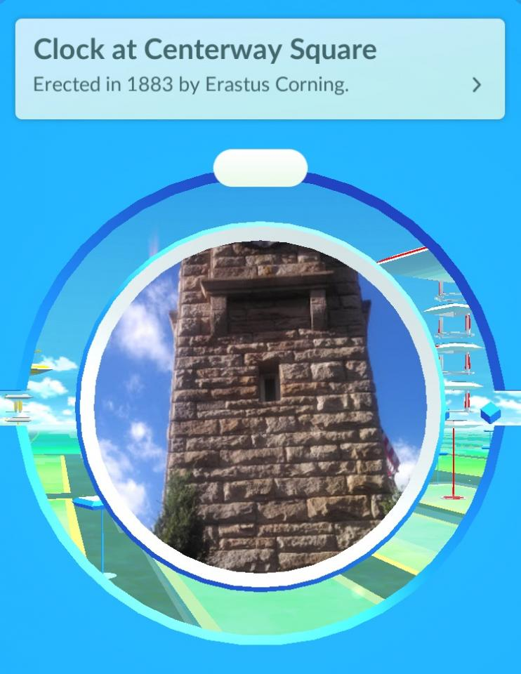 Clock at Centerway Square Pokéstop