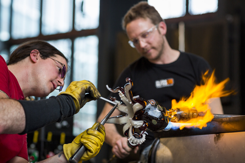 Glassblowing Demonstration courtesy of Gary Hodges and The Corning Museum of Glass