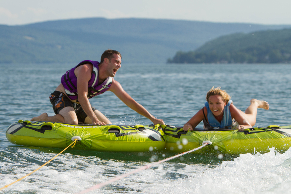 Tubing on Keuka Lake courtesy of Chris Brooks