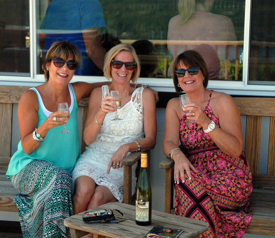 Girlfriends tasting at Dr. Konstantin Frank Vinifera Wine Cellars