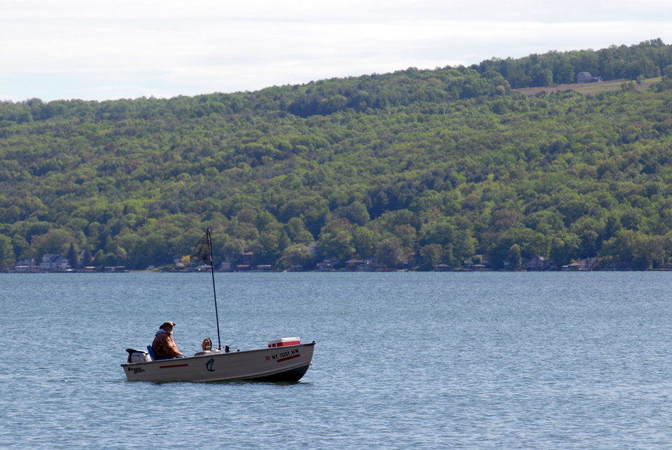 Early Morning Fishing on Keuka Lake