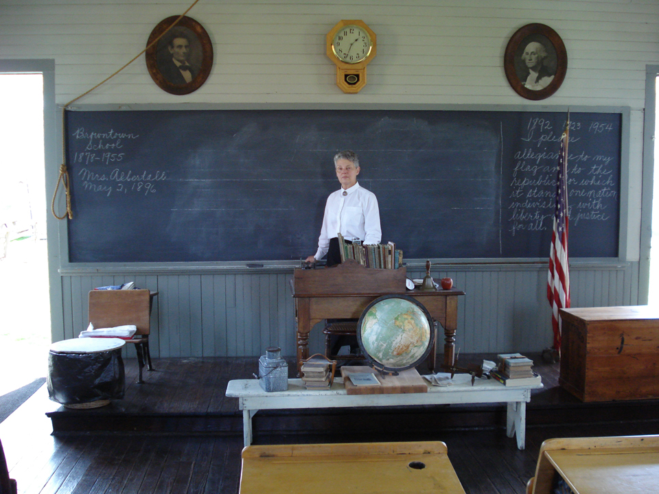 Schoolhouse courtesy of Benjamin Patterson Inn Museum