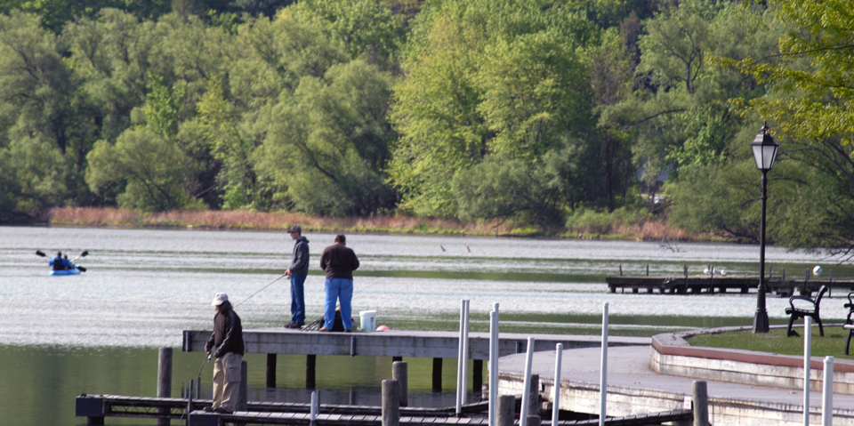 Fishing from Docks at Depot Park