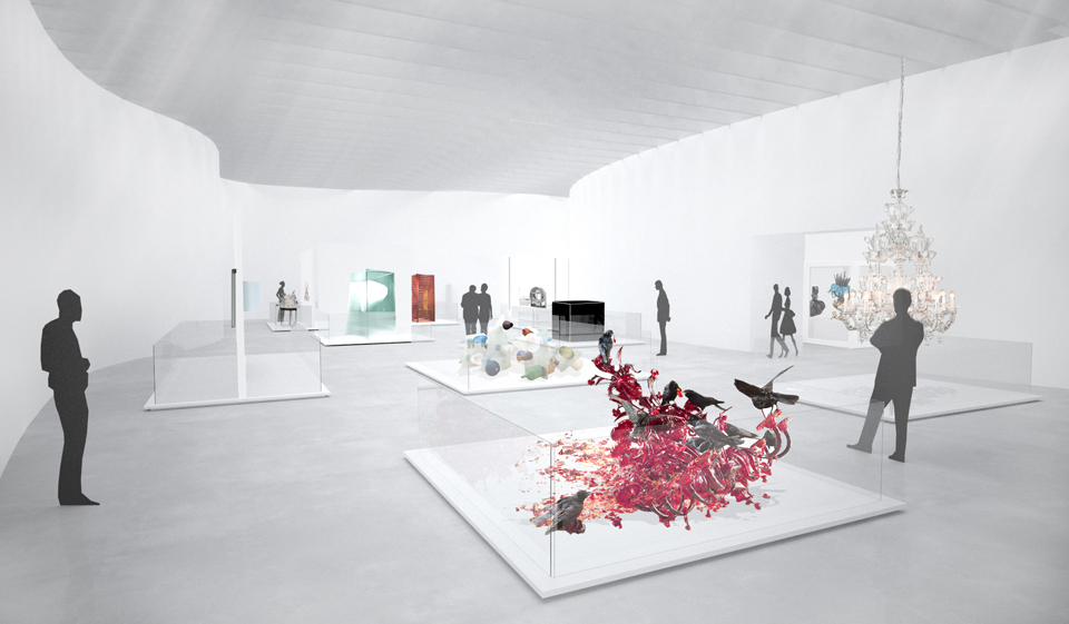 Contemporary Art + Design Wing Artist Rendering courtesy of The Corning Museum of Glass