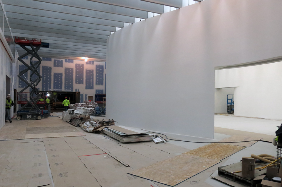 Final Construction of the Contemporary Art + Design Wing at The Corning Museum of Glass