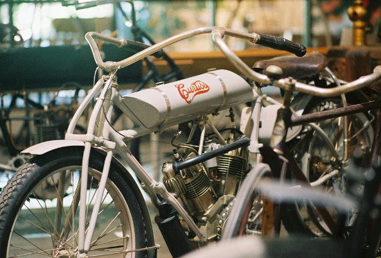 Twin Engine Motorcycle - courtesy of Glenn H. Curtiss Museum