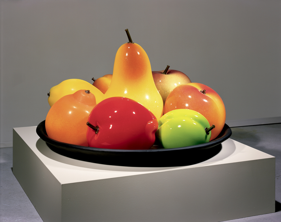 Still Life with Two Plums by Flora Mace and Joey Kirkpatrick courtesy of The Corning Museum of Glass