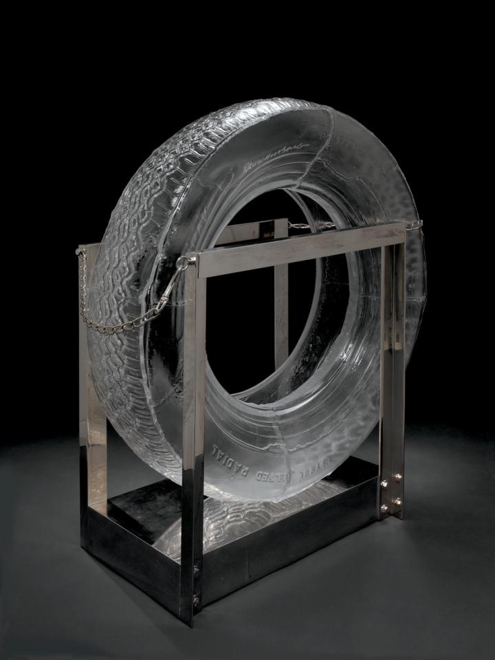 Tire by Robert Rauschenberg courtesy of The Corning Museum of Glass