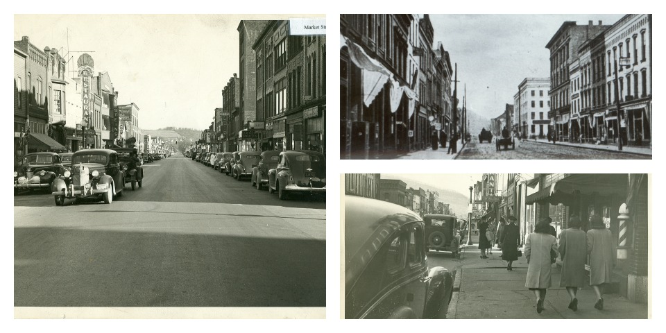 Historical photos of Market Street