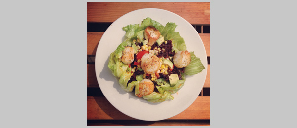 Foodspotting the Summer Scallop Salad at Bully Hill Vineyards
