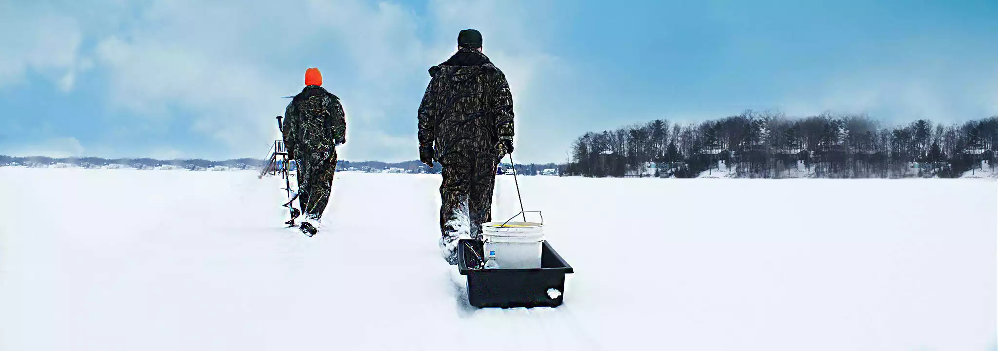 Winter Fishing in Traverse City, Michigan | Ice Fishing