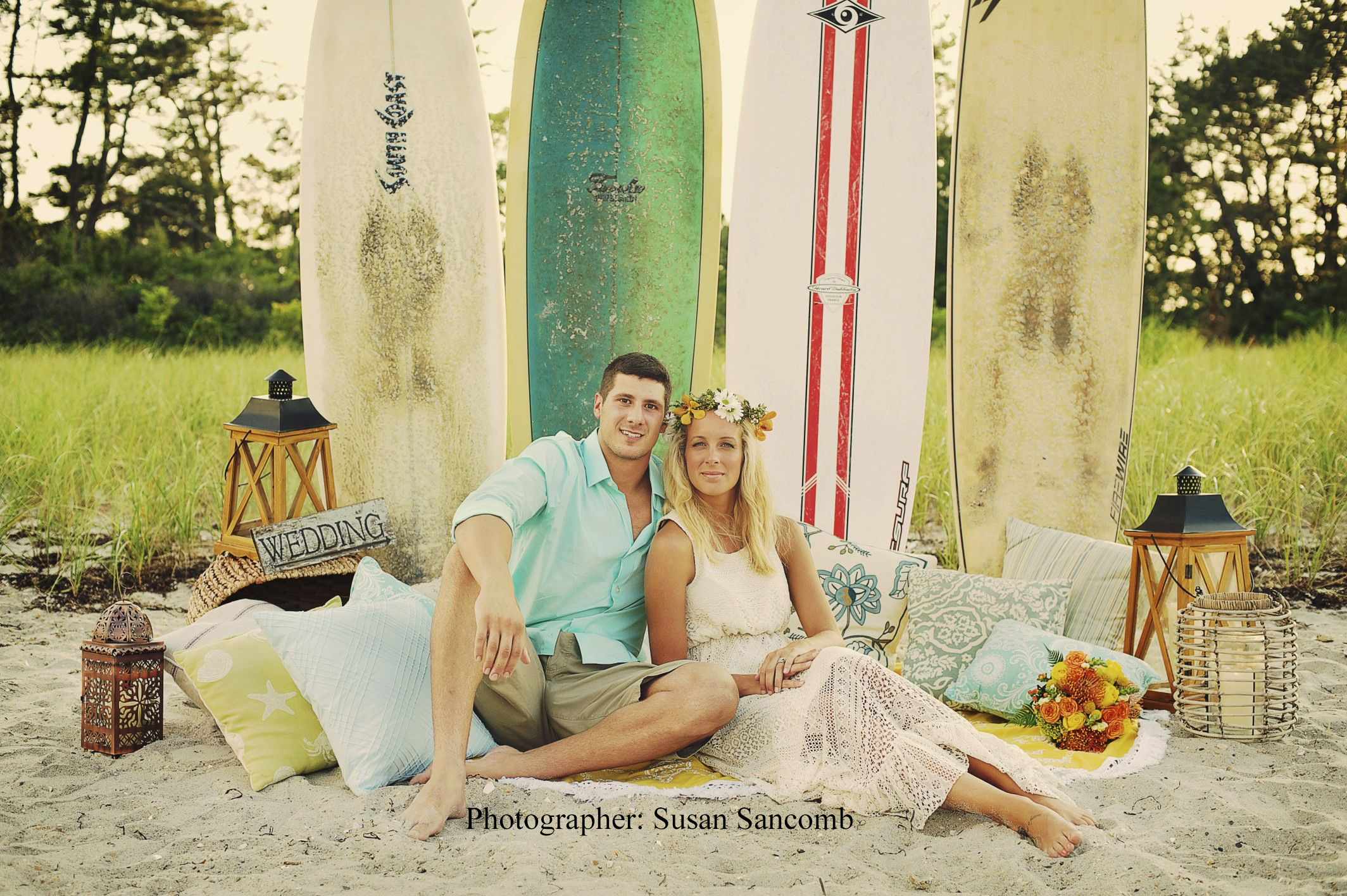 Surfer boho beach wedding 59