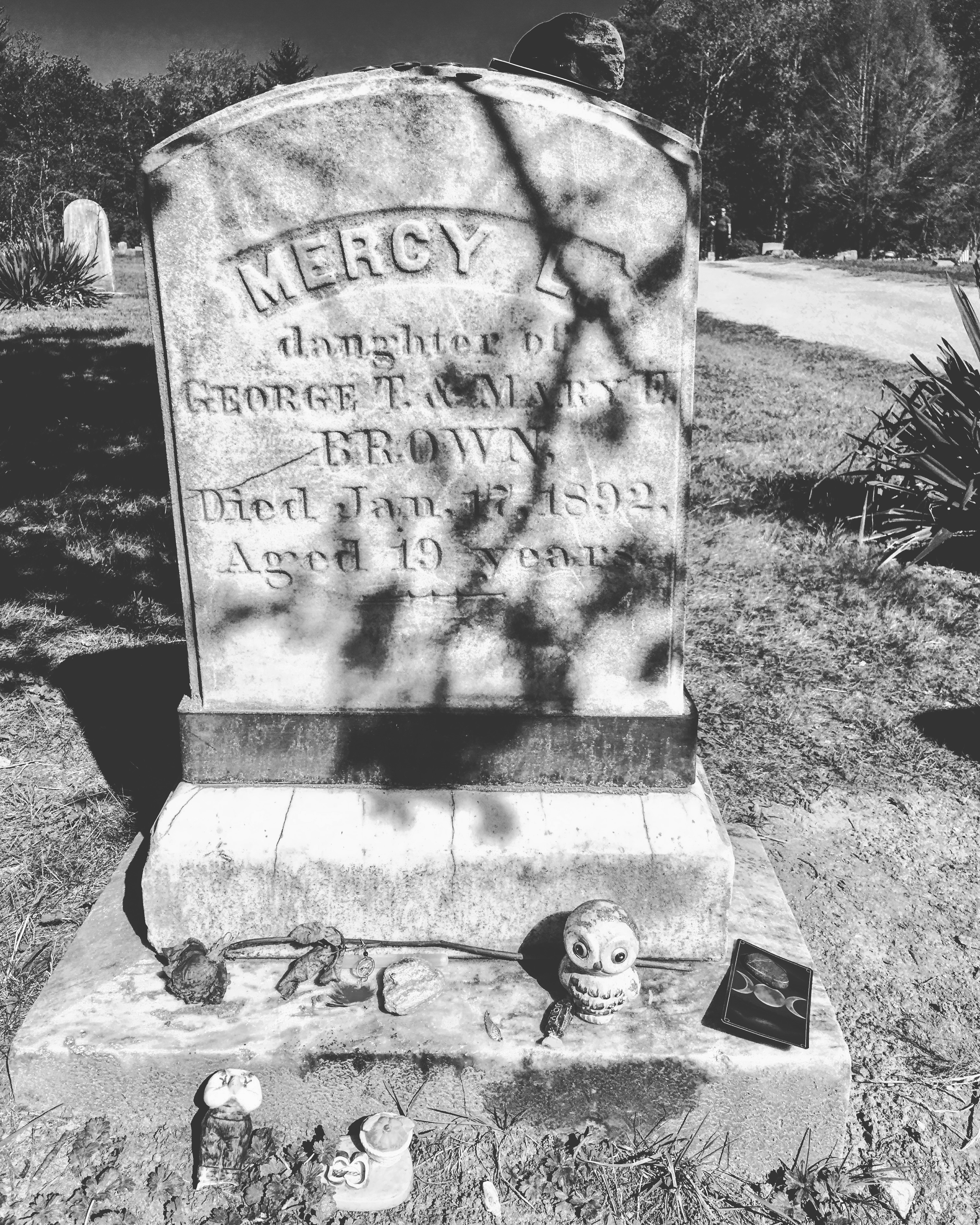 Mercy Brown Grave BW Faye Brown.jpg