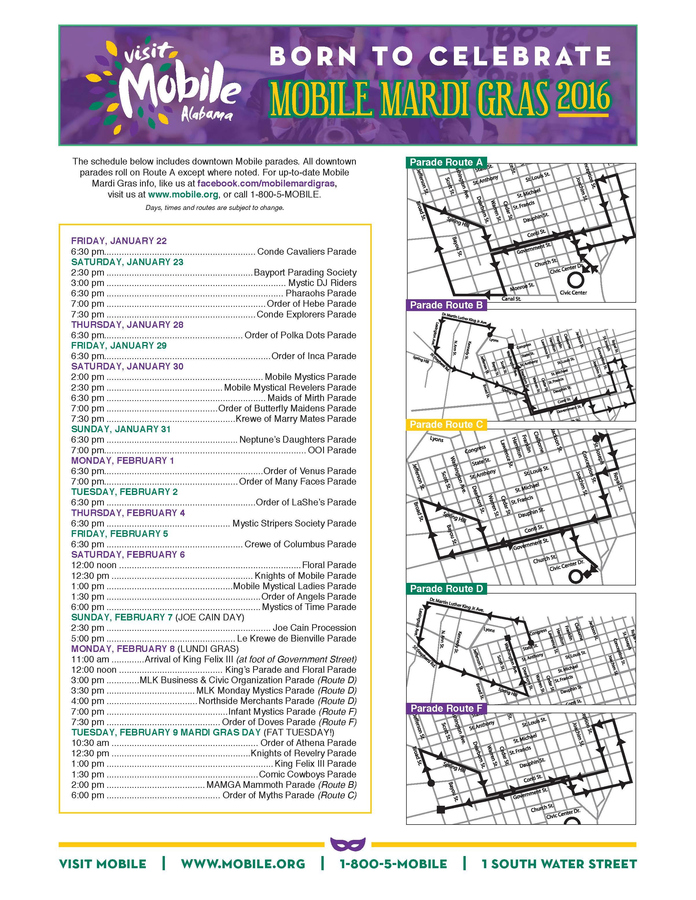 Mardi Gras mapsched 2016 online