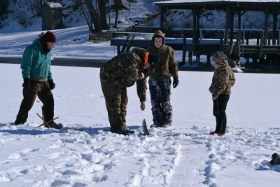 Ice Fishing on Keuka Lake. Photo courtesy Marigrace Papagni.
