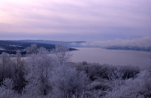 Winter Over Keuka Lake