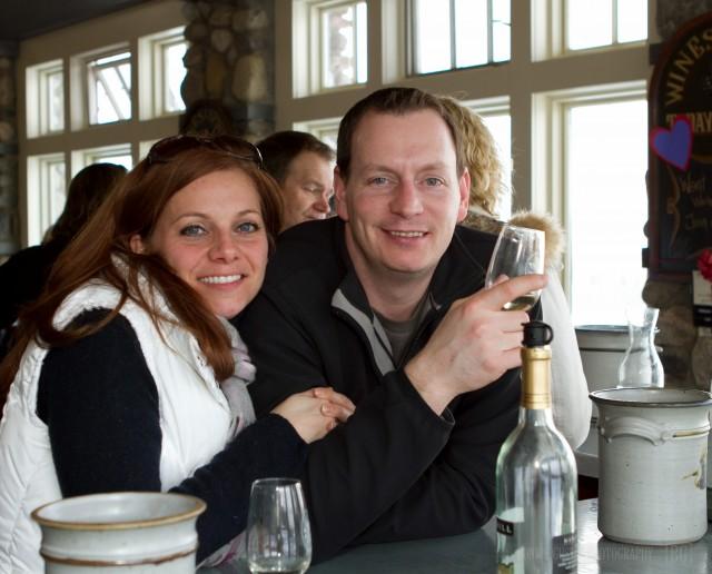 Wine tasting at Heron Hill Winery