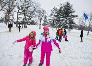 Ice Skate this winter at The Ridge Hotel in Lake Geneva