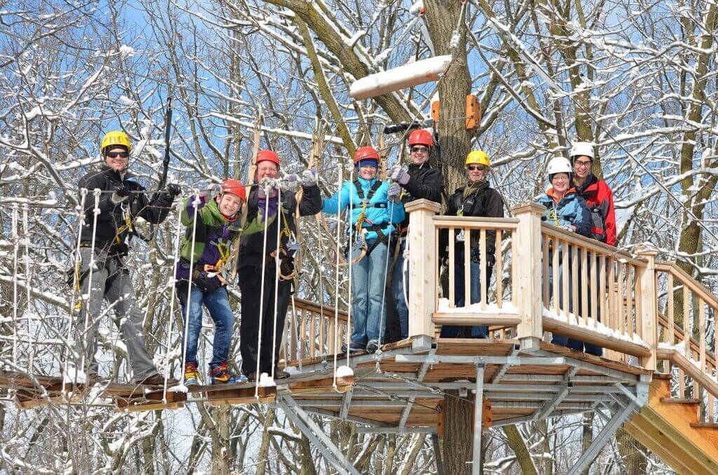 Lake Geneva Canopy Tours in winter