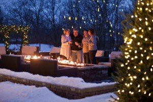 Outdoor Fire Pit at The Ridge Hotel this winter