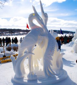 Winterfest Snow Sculpting for your winter getaway