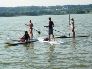 Paddle board adventure on Lake Geneva
